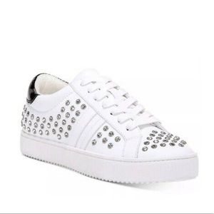I.N.C Danelia Lace-Up White Bling Sneakers